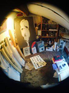 chris calvet, kazoart, atelier