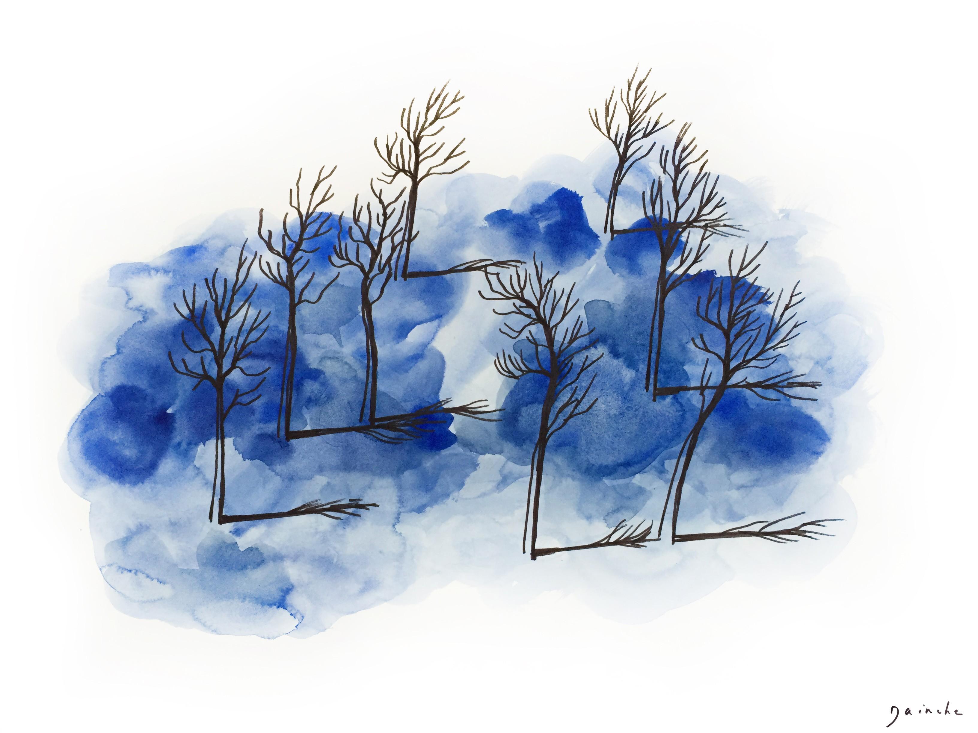 Matin bleu - Dainche - KAZoART