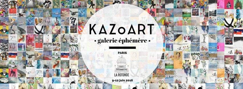 La galerie d'art éphémère de KAZoART à la Rotonde Stalingrad à Paris, du 9 au 12 juin 2016.
