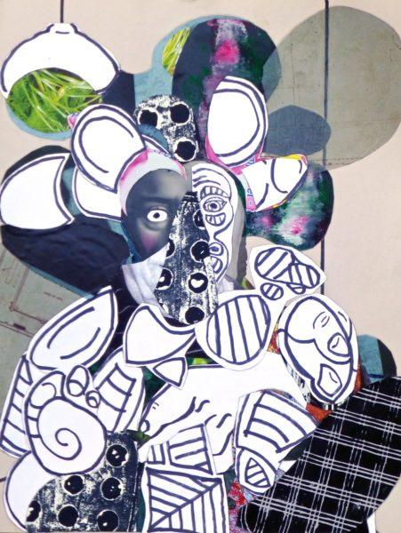 L'homme en blanc, Pascal Marlin, Collage (65 x 50)