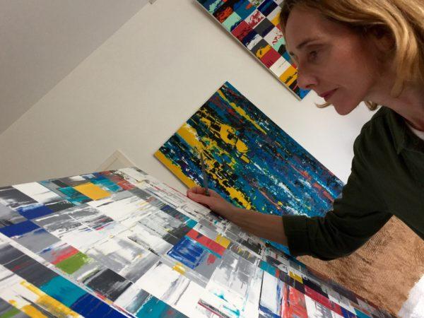 Nadine Hardy en atelier
