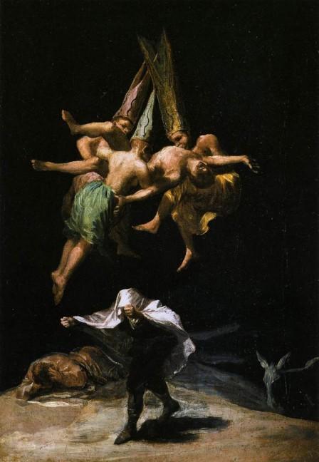 Le Vol des sorcières, Goya