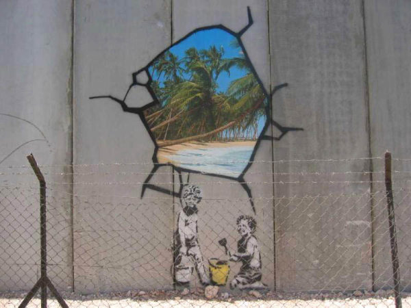 Banksy, près de Bethléem, 2005