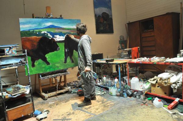 Armel Jullien en atelier