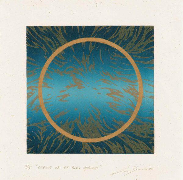 Cercle or et bleu horizon