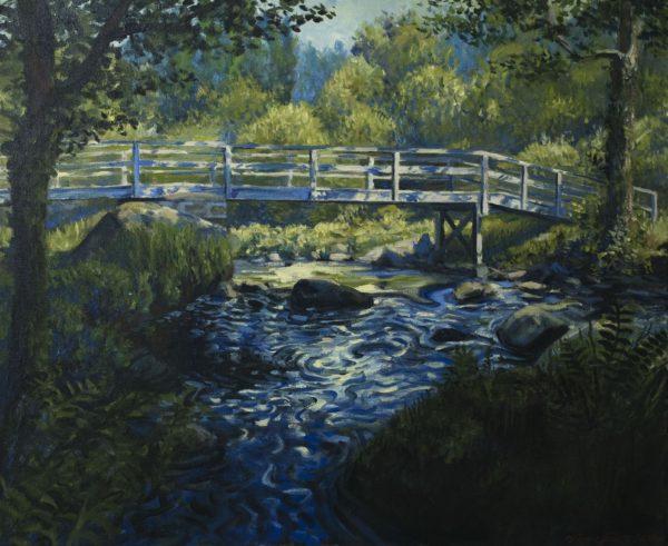 Passerelle - Antoine Favre - Peinture à l'huile