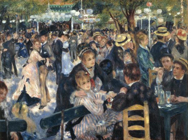 Bal du moulin de la Galette, Auguste Renoir, 1876, Musée d'Orsay, Paris