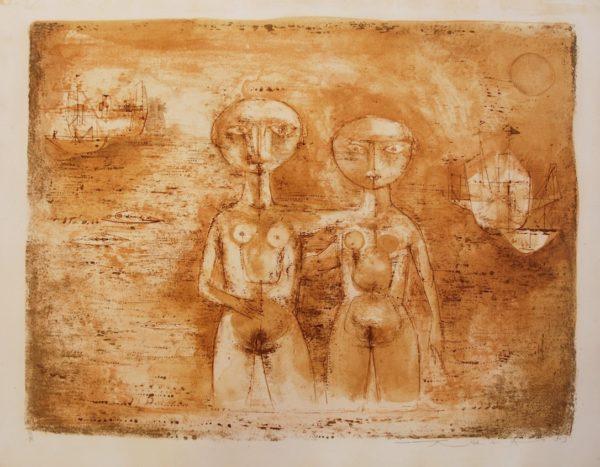 Zao Wou Ki Les grandes baigneuses 1953 Lithographie originale