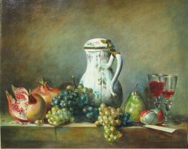 Raisins et Grenade, 1763, Chardin