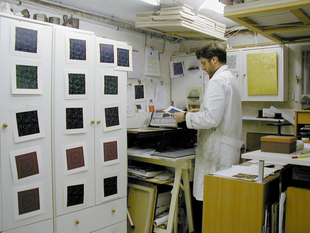 Éric Durant en atelier