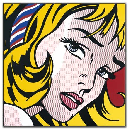 Girl with Hair Ribbon, Roy Lichtenstein, 1965 © Popartis