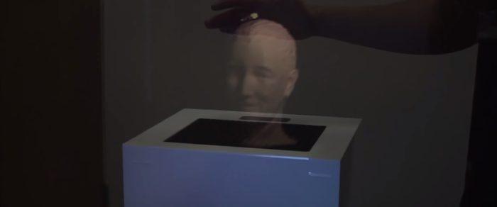 Interface pour toucher des objets virtuels