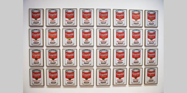 Le tableau des soupes Campbell au MOMA de New York, Andy Warhol, 2010 © GARDEL Bertrand / Hemis.fr