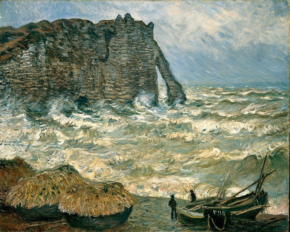 Claude Monet, Mer agitée à Etretat, 1883, Musée des Beaux-Arts de Lyon, Wikimedia Commons