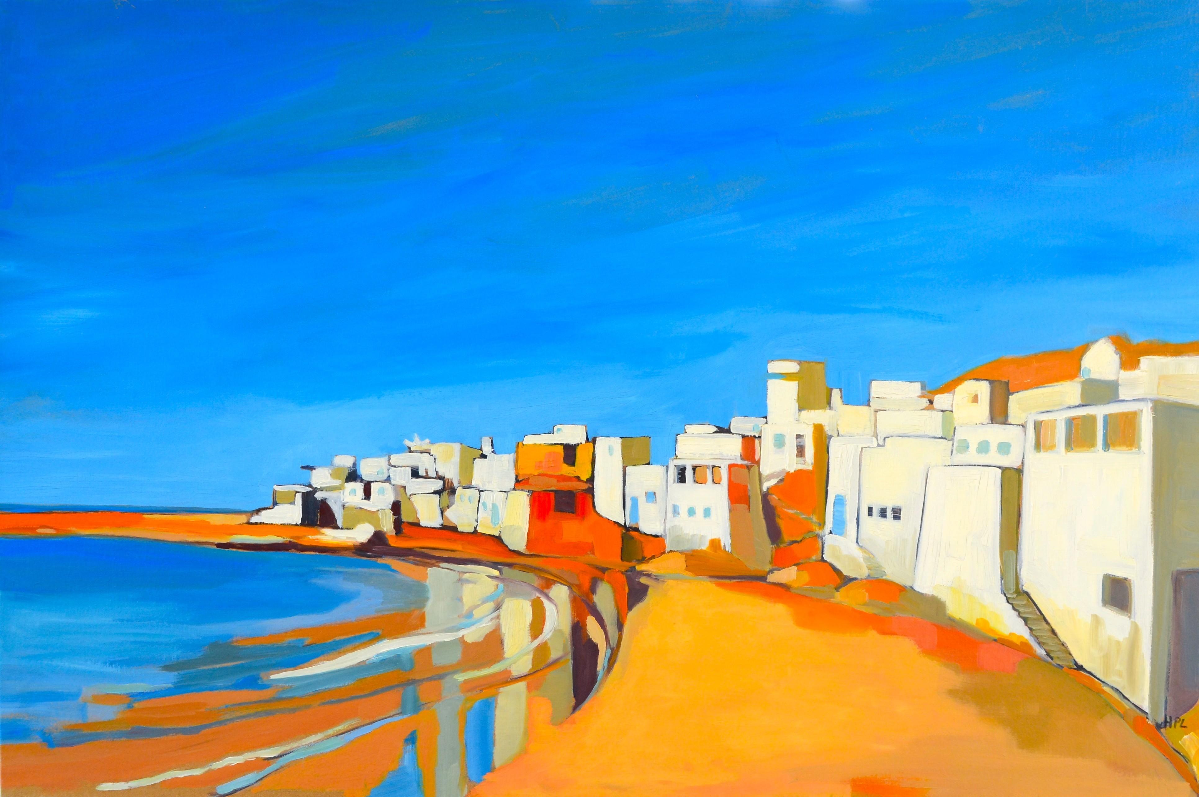 Au Maroc bleu, Hélène de Maneville (peinture à l'huile, 2014)