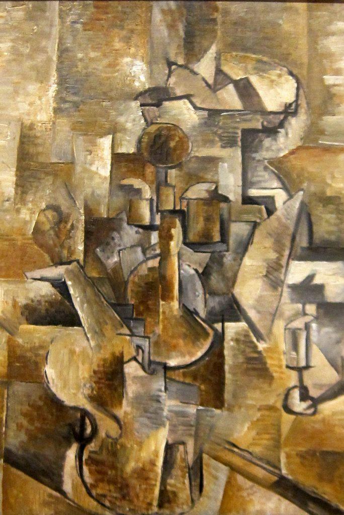cubisme Braque Violon et chandelier KAZoART
