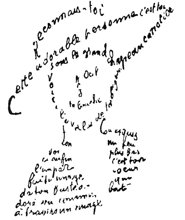 cubisme Calligramme Apollinaire KAZoART