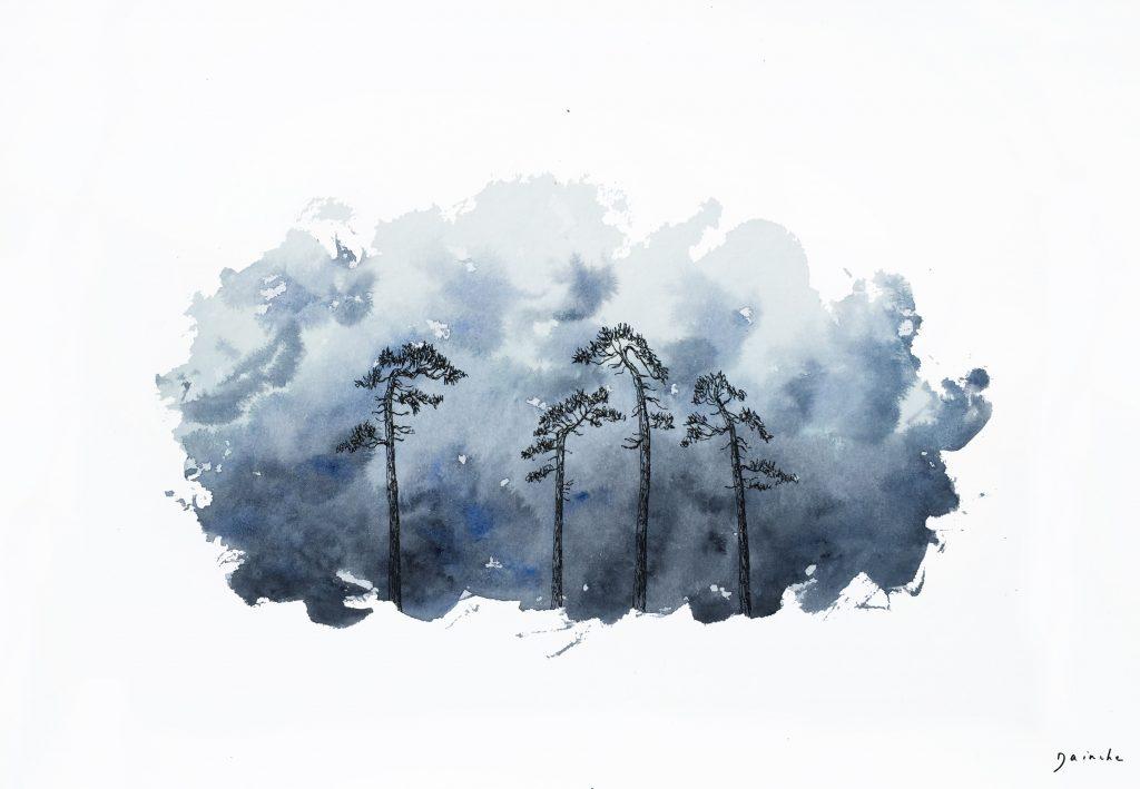 Dainche, Matin frais, 24 x 32 cm