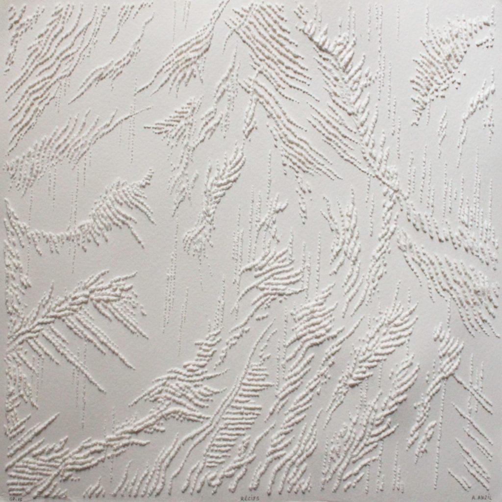 Récifs, Antonin Anzil - Pointe Sèche (30 x 30 cm)