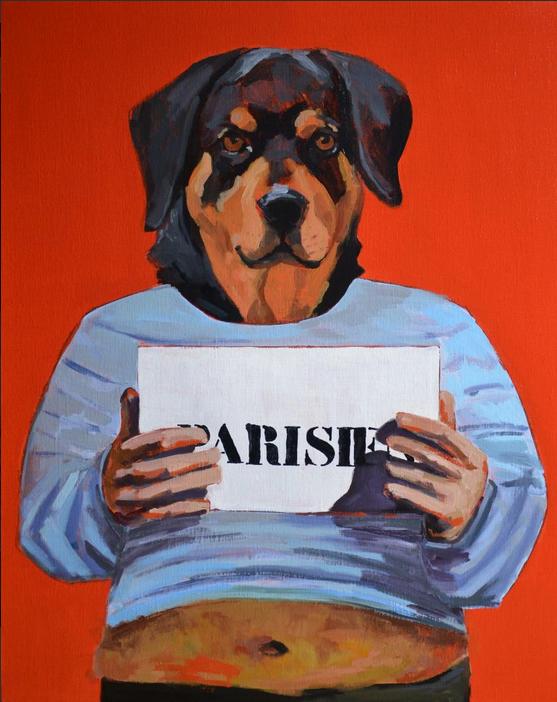Alexandra Chauchereau, Série identité : parisien, 92 x 73 cm