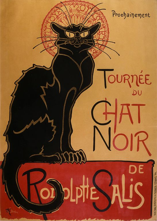 Chat noir kazoart estampes