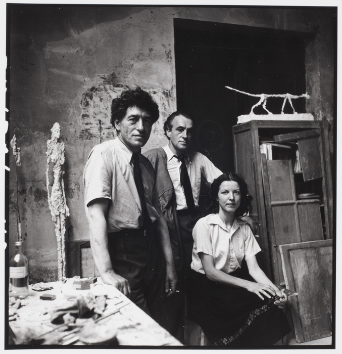 Alexander Liberman, Alberto Giacometti, sa femme Annette et son frère Diego, Paris