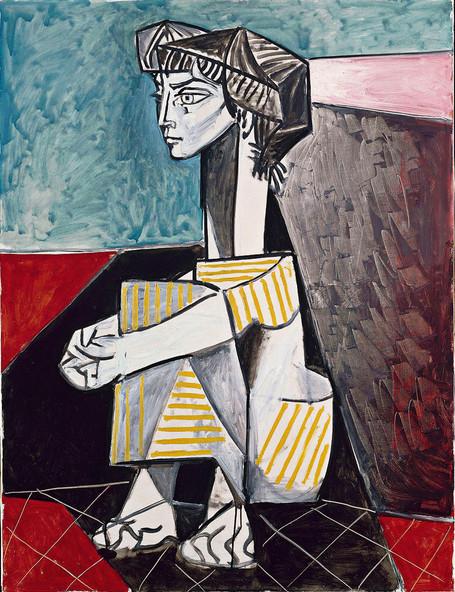 Pablo Picasso, Jacqueline aux mains croisée, 1954, RMN-GP