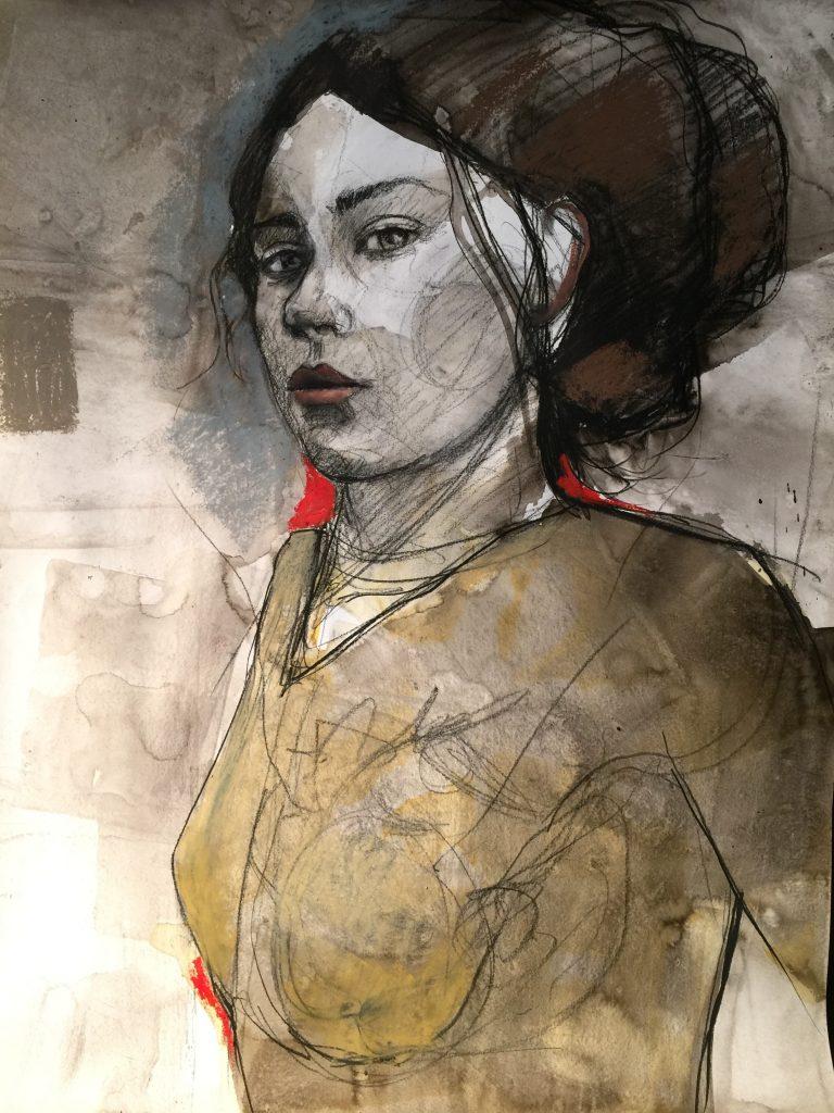Nicholas Coss, Encre, fusain et pastel gras, 2016
