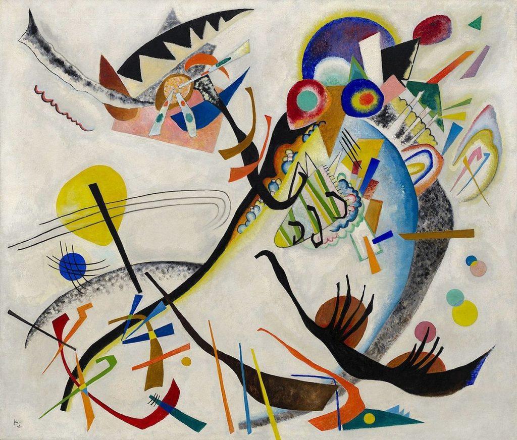 Vassily Kandinsky, Segment bleu, (1921, huile sur toile, New York, Solomon R. Guggenheim Museum) © ADAGP Paris and DACS London 2006