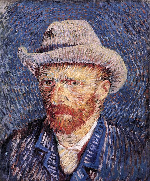 Autoportrait au chapeau de feutre, 1887, Fondation Van Gogh