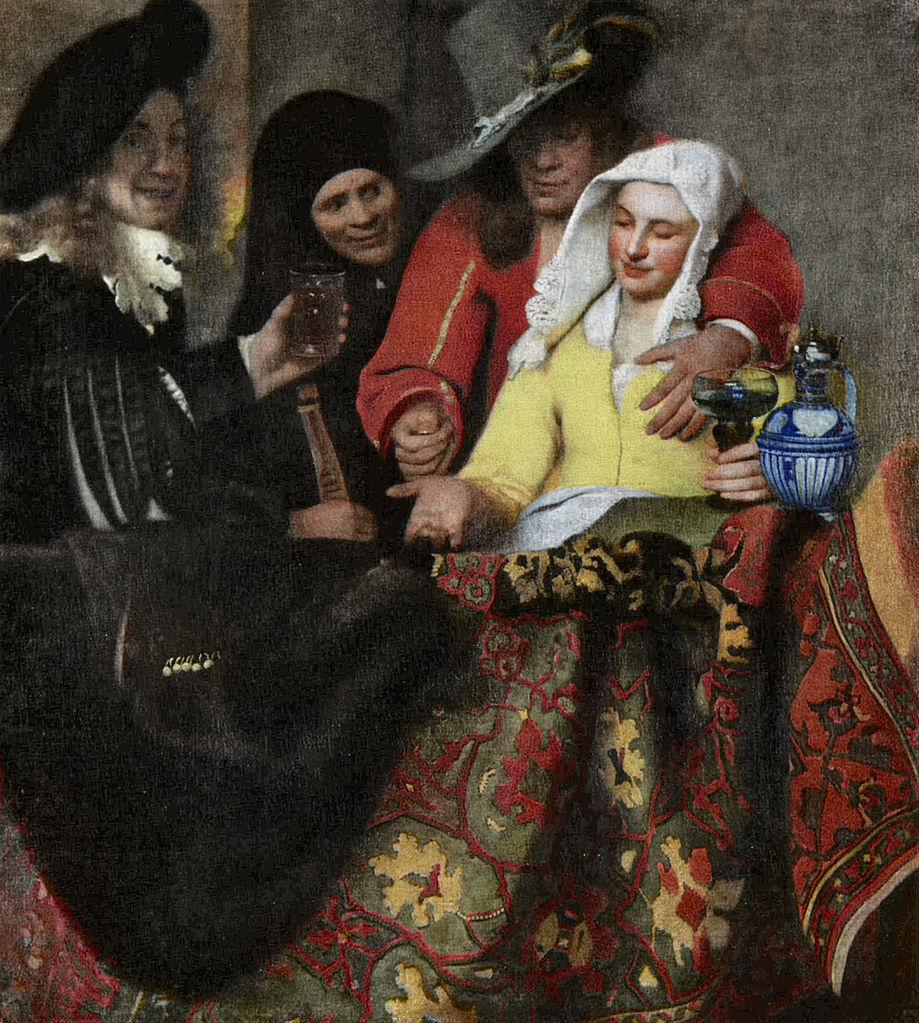 Vermeer, L'Entremetteuse (huile sur toile, 1656)