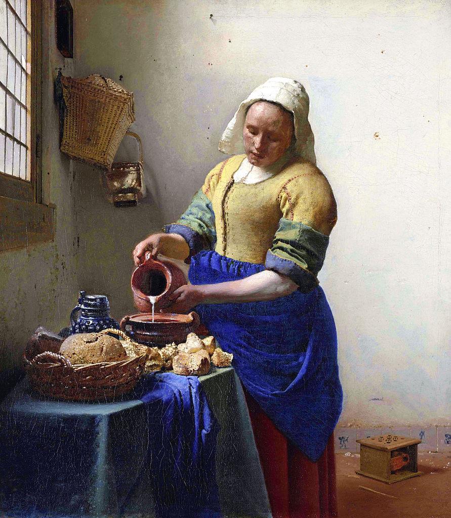 Vermeer - La Laitière (huile sur toile, 1658)