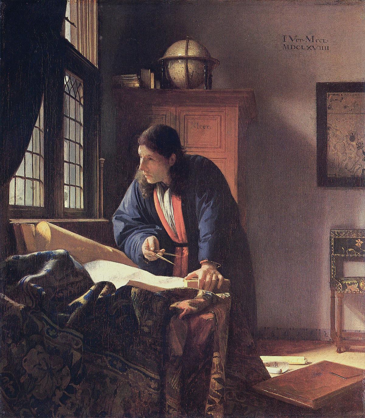 Vermeer, Le Géographe (huile sur toile, 1668-69)