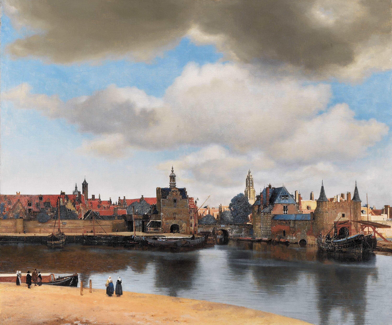 Vermeer, Vue de Delft (peinture à l'huile, 1660-61)