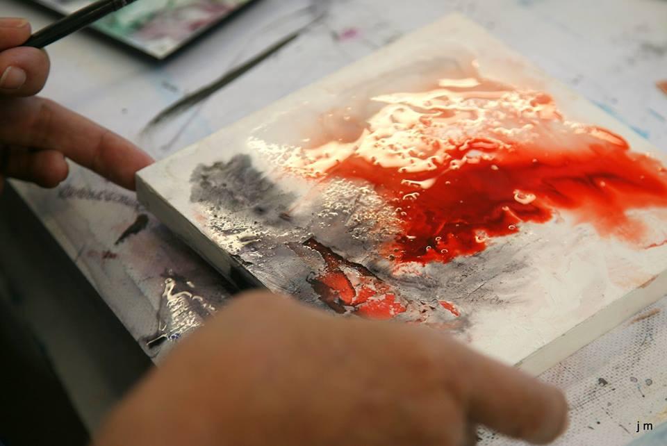 Ho My An dans son atelier