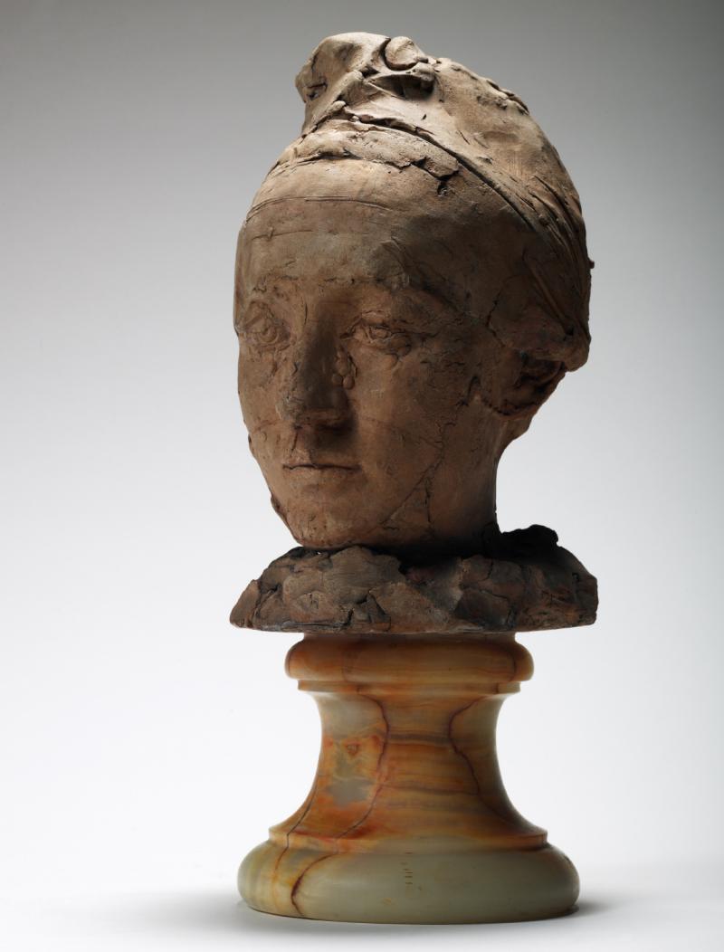 Auguste Rodin, Tête de Camille Claudel coiffée d'un bonnet
