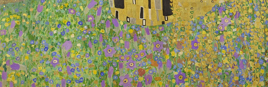 Gustav Klimt, Le Baiser, parterre fleuri