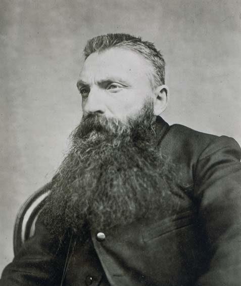 Adolphe Braun, Portrait de Rodin les cheveux en brosse