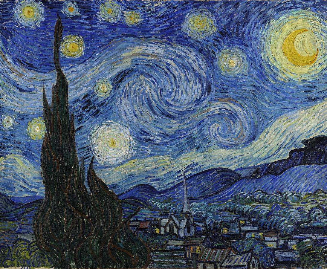 Van Gogh, La Nuit étoilée (huile sur toile, juin 1889)