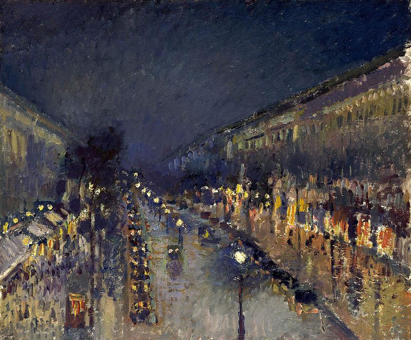 Camille Pissarro, Boulevard Montmartre (huile sur toile, 1897)