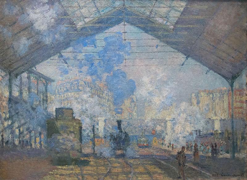 Claude Monet, À la gare Saint-Lazare (huile sur toile, 1877)