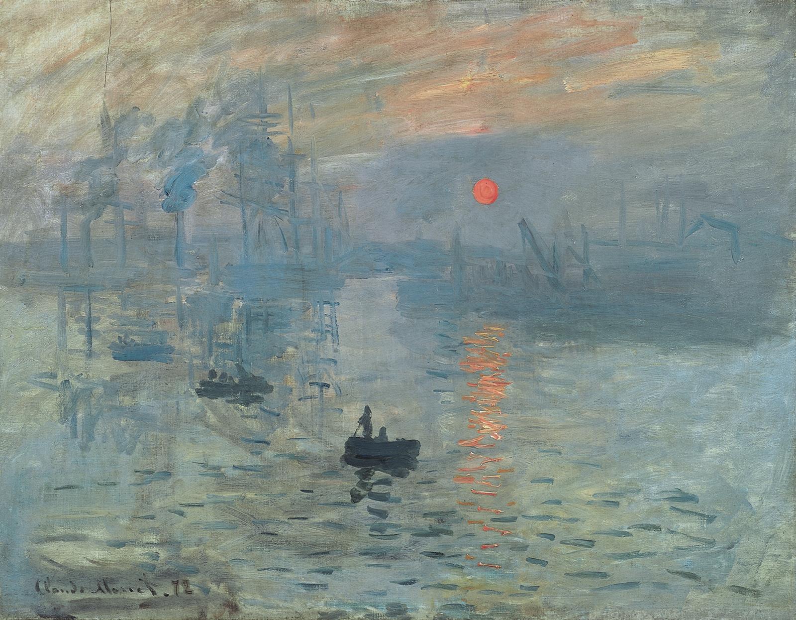 Claude Monet, Impression, soleil levant (huile sur toile, 1872)