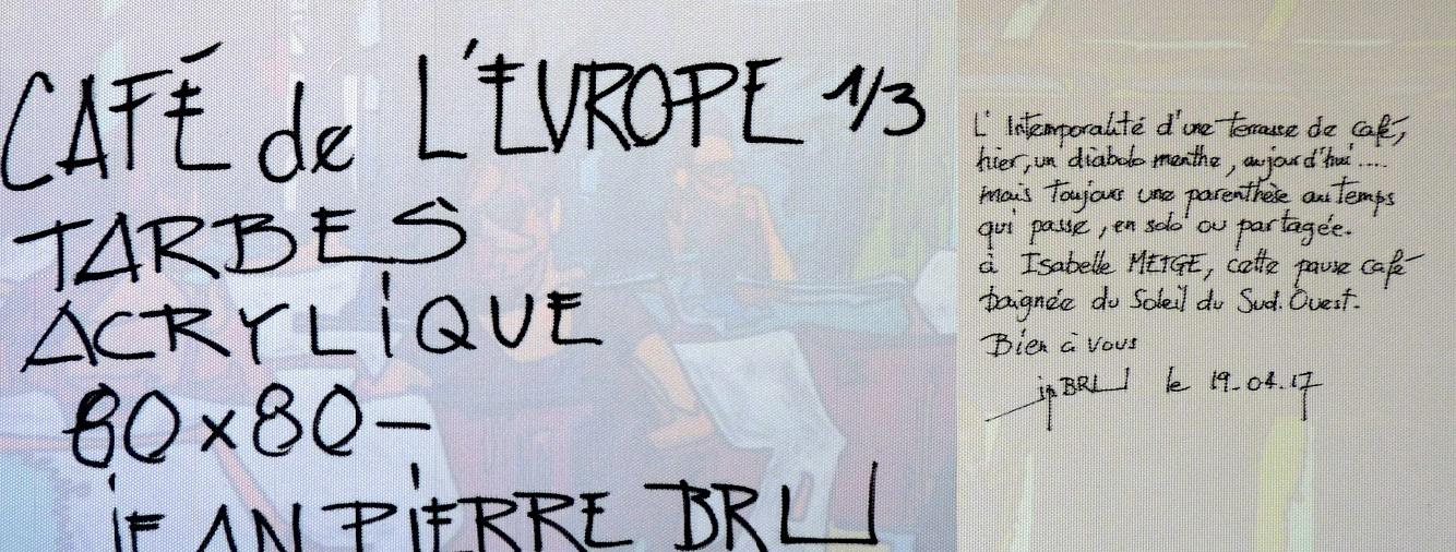 Extrait d'une dédicace par Jean-Pierre Bru