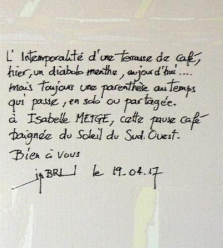 Dédicace par Jean-Pierre Bru