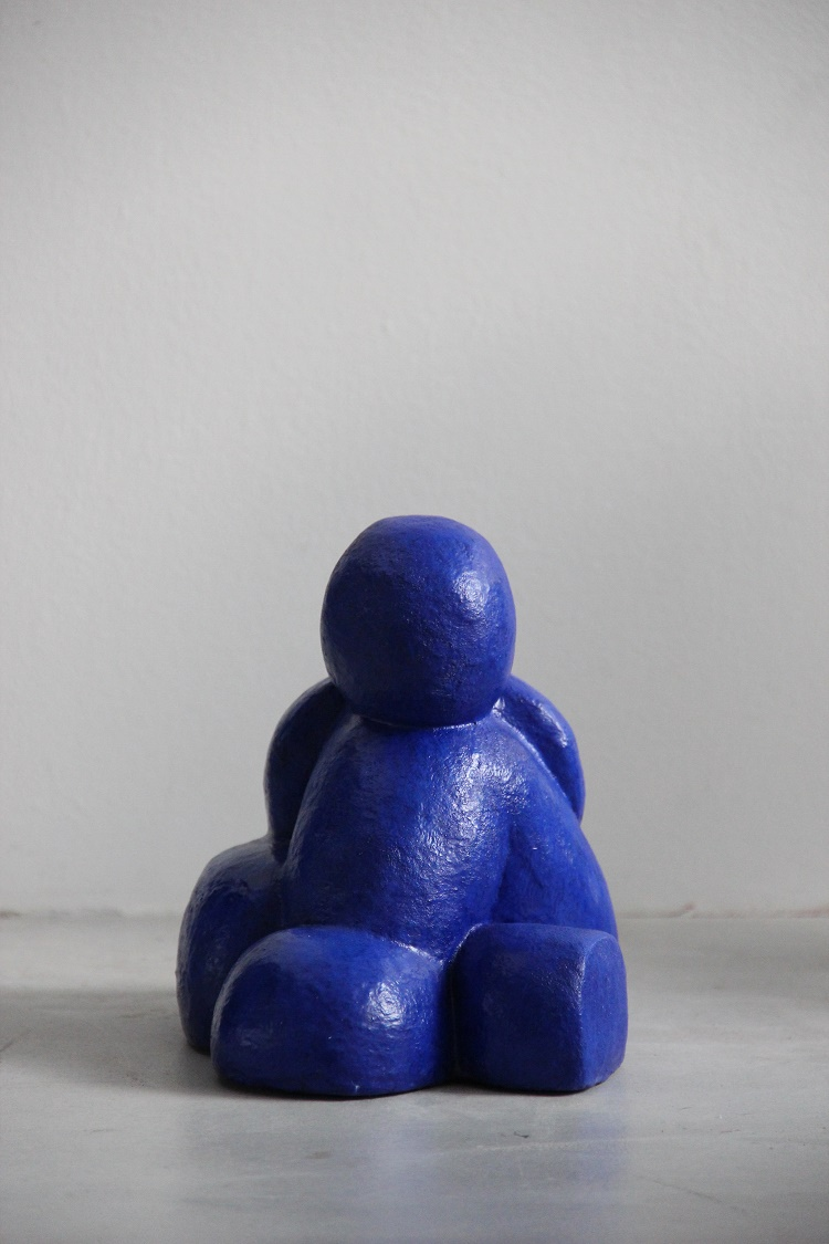 Sophie Bocher, Le penseur (sculpture plâtre, 2015)