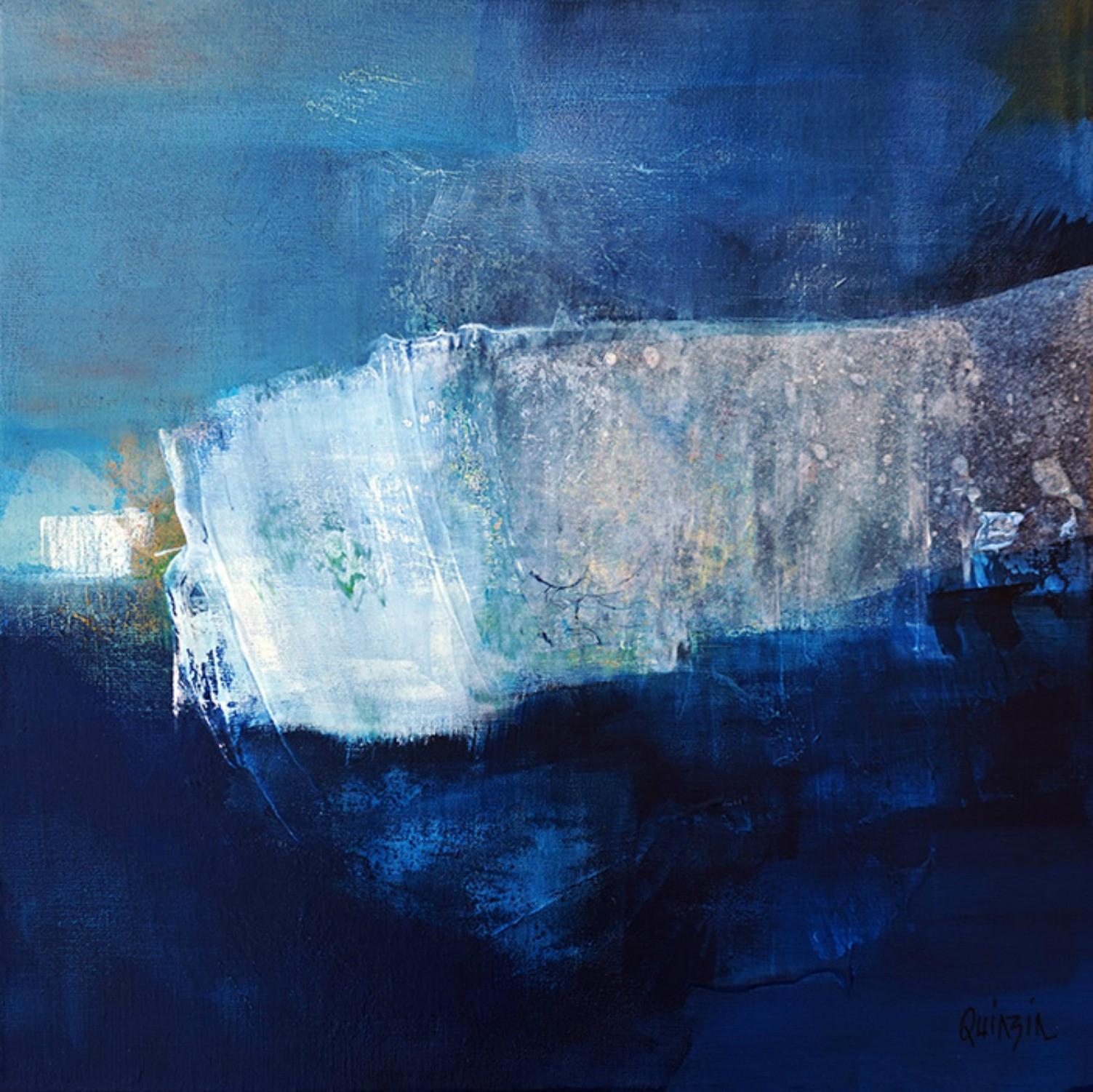 Marianne Quinzin, Nuit sur la falaise (technique mixte, 2017)