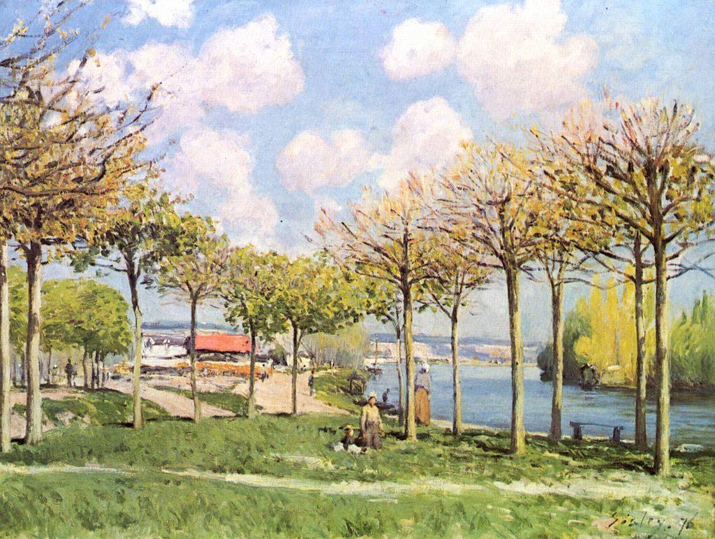 Alfred Sisley, La Seine à Bougival (1876, huile sur toile)