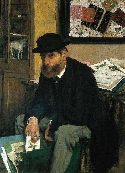 Edgar Degas, L'Amateur d'estampes (huile sur toile, 1866)