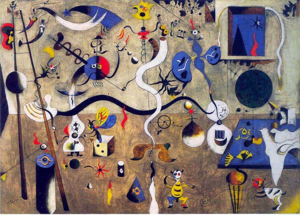 Joan Miró, Le Carnaval d'Arlequin (huile sur toile, 1924-25)