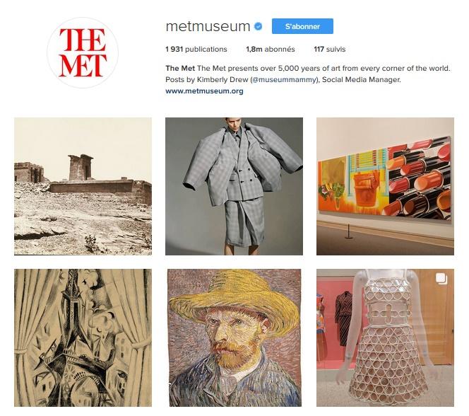 Extrait du compte Instagram du MET Museum / © Met Museum